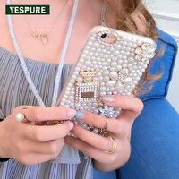 YESPURE Inci Kız Fantezi Telefon Kılıfları Lüks Parfüm Vaka Iphone 6 için artı Cep Telefonu Kabuk Aksesuarları için Iphone 6 s artı
