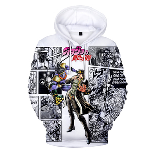 Image 4 - 3D Print Hoodies Men/Women Comic JOJO Hip Hop Sweatshirt Harajuku Tops Hooded Boys/Girls JOJO Streetwear Pullovers