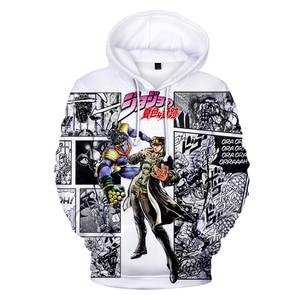 Image 4 - Sudadera Harajuku de Sudaderas con capucha de impresión 3D para hombre y mujer, ropa de calle de JOJO, con capucha, estilo Hip Hop