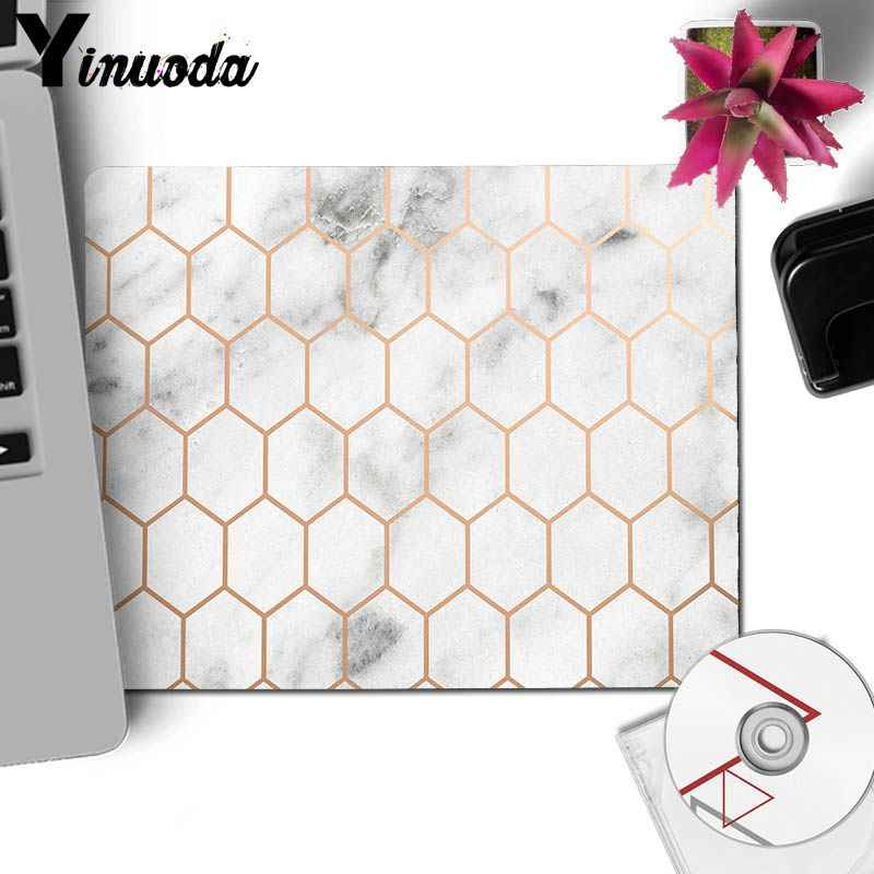 Yinuoda 新着ローズゴールド大理石キーボードマットゴムマウスパッドマットデスクマット装飾デスクトップゲーミングマウスマットパッド