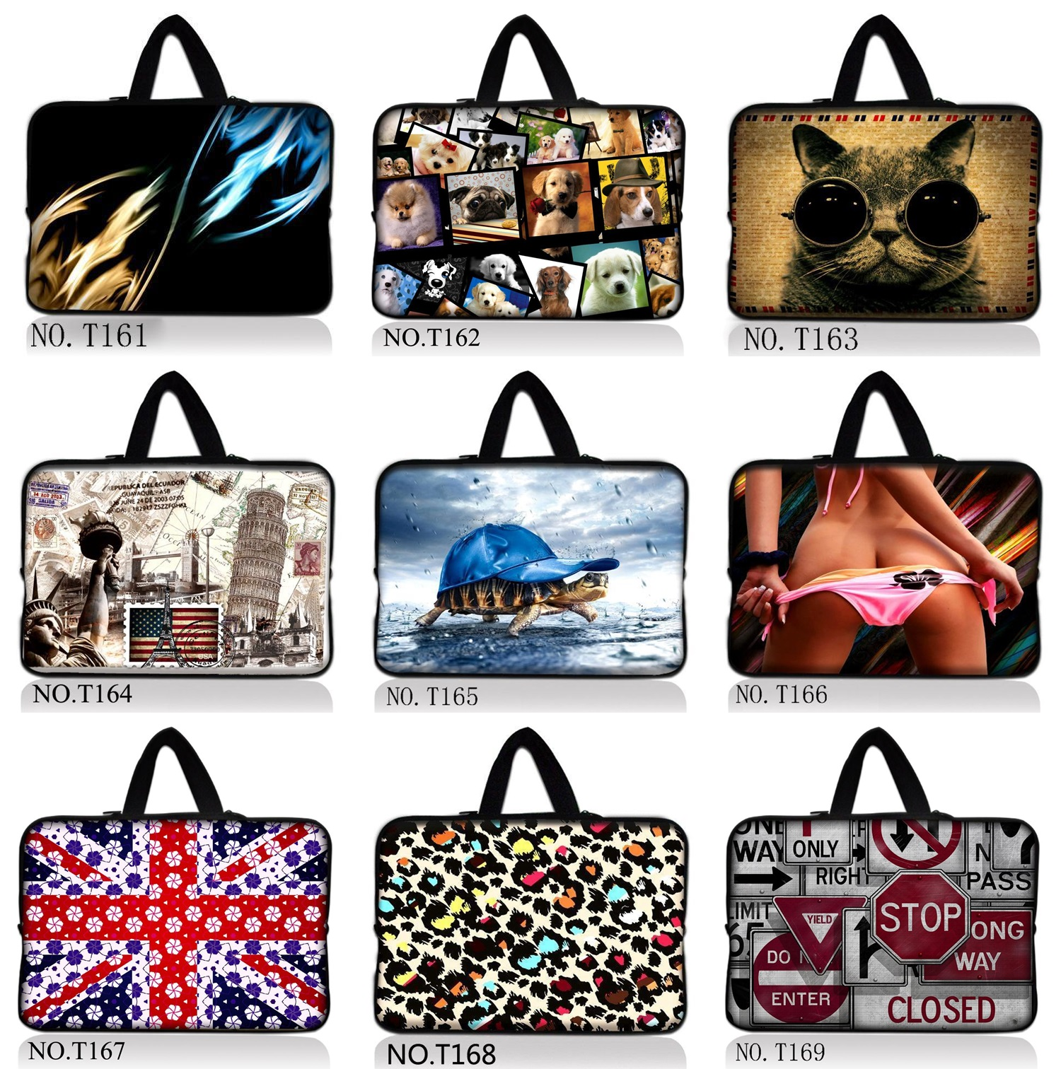 12 13 14 15 17 Inch Waterproof Neoprene Computer Laptop Notebook Tablet Bag Bags Case sleeve Handle bag unisex men women