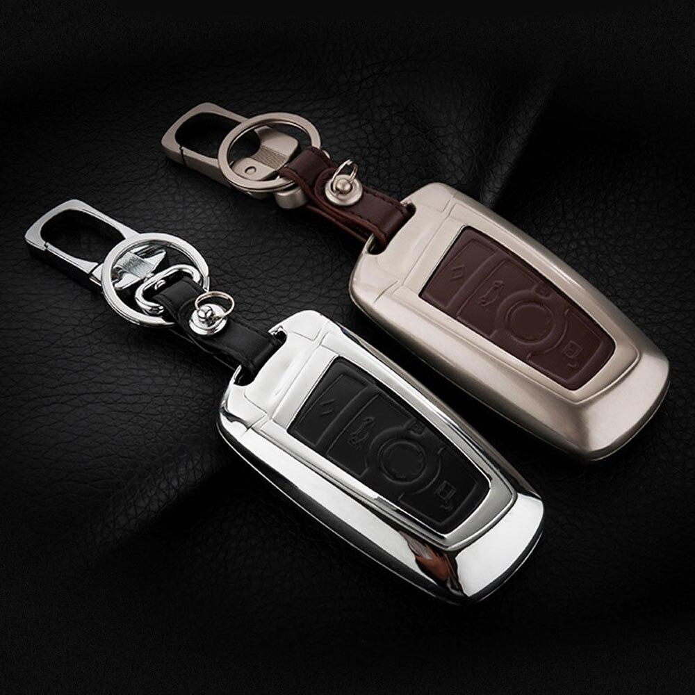 ATOBABI aleación de Zinc + coche de cuero casos de la cubierta Fob dominante para BMW 520 525 730li 740 118 320i 3 5 7 Serie X3 X4 M3 M4 M5 Car Styling