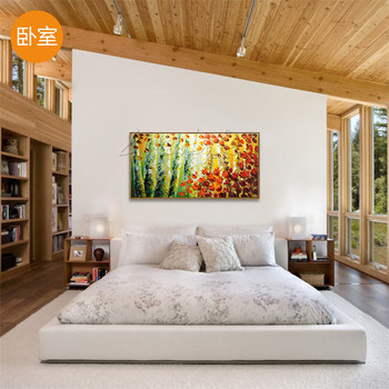 Wall art Pictures for living room,Hand painted canvas oil paintings  ,modern cuadros abstract painting of landscape forest
