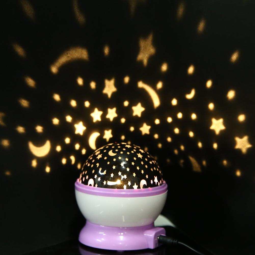 Rotation Stars Starry Sky Kids Luminous Night Light Lamp Moon Night Projector Glow in the Dark Kids Toy Xmas Gift Romantic Decor