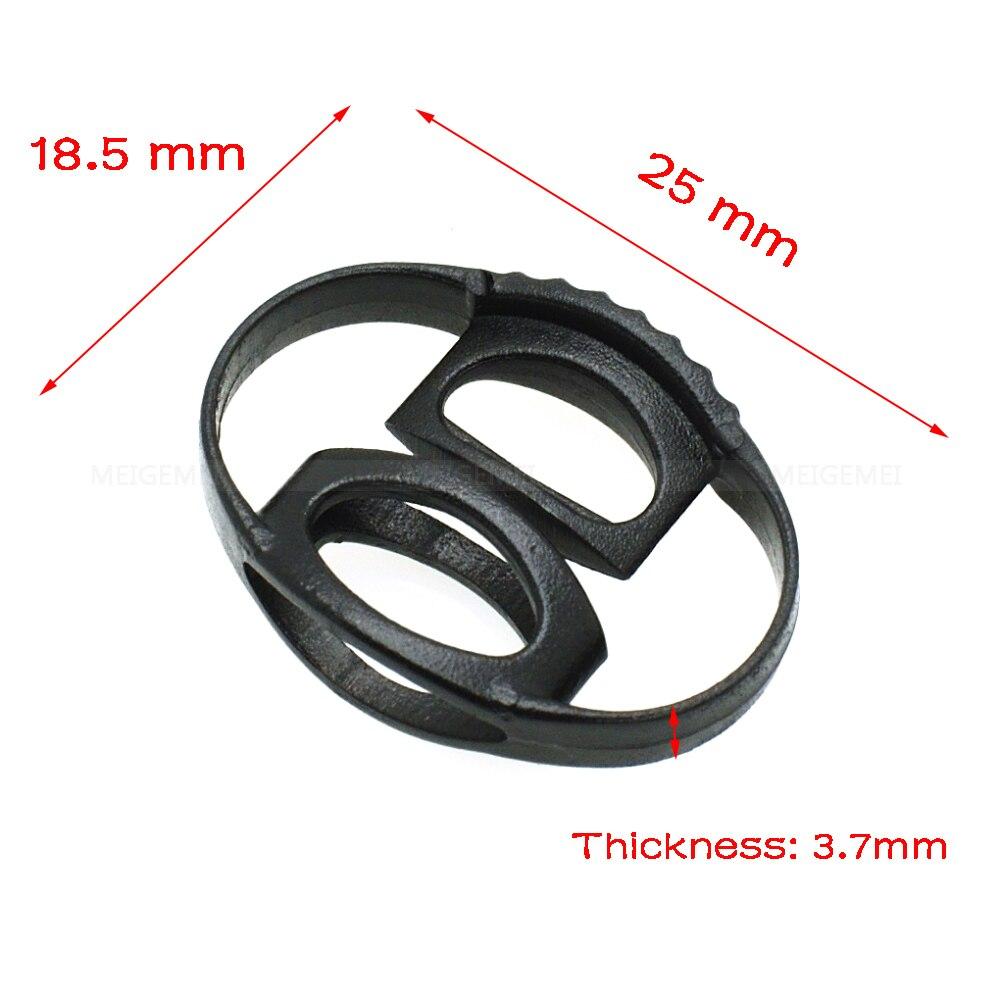 100pcs  20*18mm Cord Slider Drawstring Plastic Rope Clamp Cord Lock Symmetrical Stopper Black|cord lock|plastic rope clampscord locks cord stoppers - AliExpress