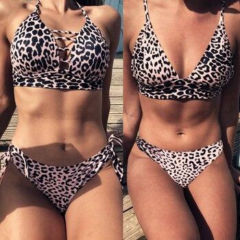 84b2e8b90c46 Bikini 2019 Push Up traje de baño de dos piezas Bikini de cintura alta  talla grande para mujer ...