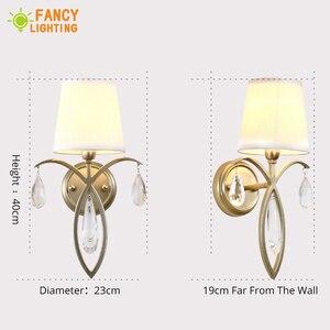 Image 4 - (E14 Glühlampe Für Freies) moderne wand lampe Eisen led wand licht für home/wohnzimmer wandlamp treppen led licht Stoff schatten Wandleuchter