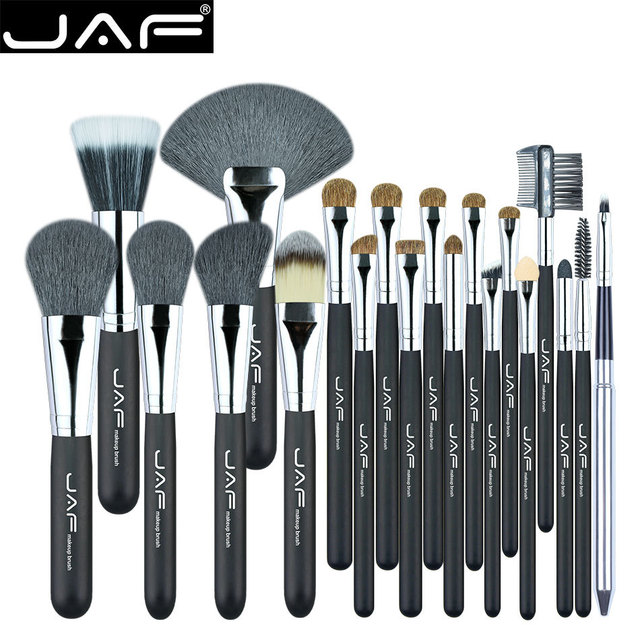 Jaf 20 unids cara profesional sistema de cepillo del maquillaje fundación soplo de polvo de cejas sombra de ojos delineador de labios colorete herramienta cosmética