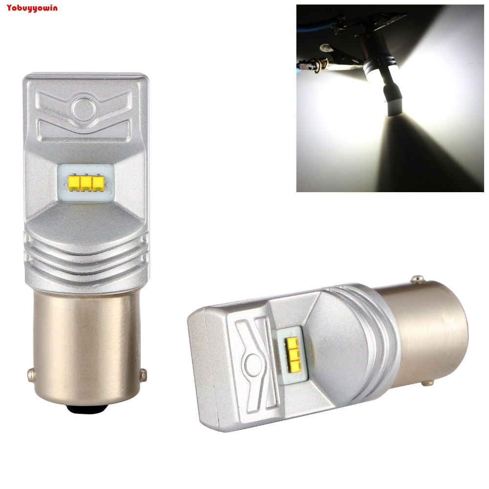 2*Error Free For Car High Power S25 1156 BA15S 80W 1000LM P21W LED Bulb White Turn Signals Backup Reverse Lights Fog Lamps DRL 2pcs brand new high quality superb error free 5050 smd 360 degrees led backup reverse light bulbs t15 for jeep grand cherokee