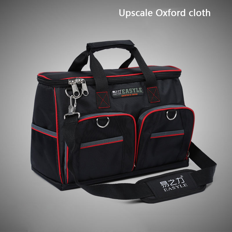 16(40x17x28cm) Multifunctional Electrical Bag Tools Case Oxford Bag Electrician Canvas Tool Bag Toolkit