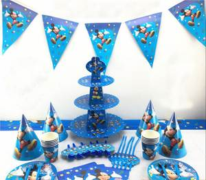 Party Decorations paper plate cup Tableware Set