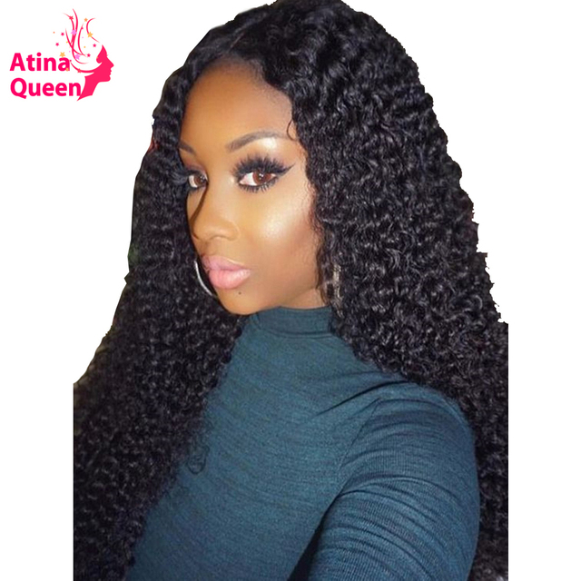 13x6 Deep Part Lace Front Human Hair wigs Brazilian Deep Wave Curly  PrePlucked with Baby Hair for Women Remy Black Atina Queen 8f07e54e4