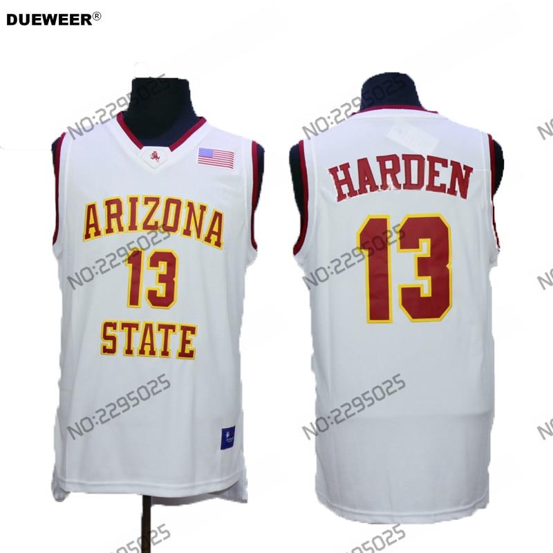 e0db237c2032 ... new zealand dueweer mens vintage arizona state sun devils 13 james  harden college basketball jerseys retro