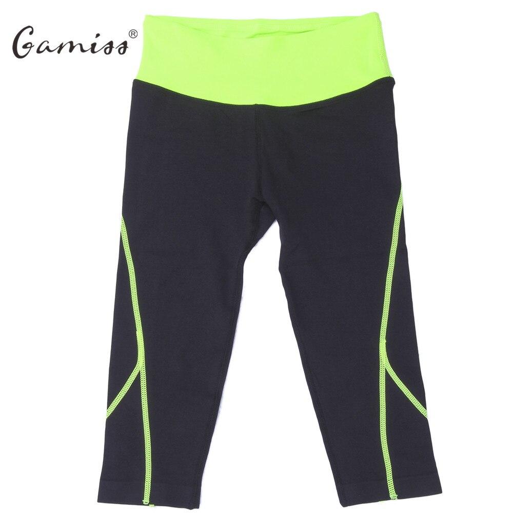 Prix pour Gamiss Femmes Sport Leggings Remise En Forme Élastique Mèche Force Exercice Sport Gym Pantalon Femelle Course Mince Leggings Yoga Pantalon