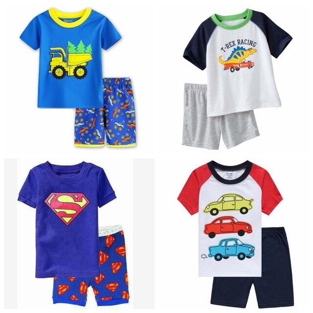 d2db634311 2017 New Summer Kids Clothes Baby Girls Clothing Short Sleeve Costume Cotton  Pajamas Children Sleepwear Pyjamas