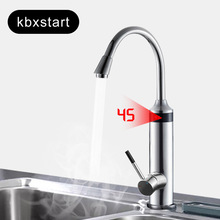 Kitchen Water Heater Tap Instant Electric Water Heater Faucet New Heating Tube 220V With Safer Handle Water come from Below