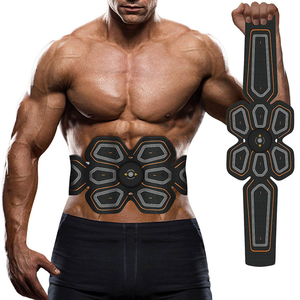 EMS ABS Trainer Abdominal Electro Stimulator Electrostimulation USB Charged Fitness Home Workout Gym Muscle Toning Belts (8)