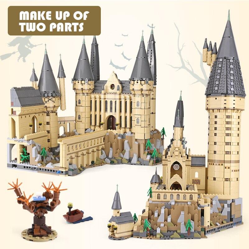 Lepin 16060 Harry Film Potter 71043 Poudlard Château Ensemble Blocs de Construction Briques Enfants Jouets Maison Modèle De Noël Cadeaux d'anniversaire