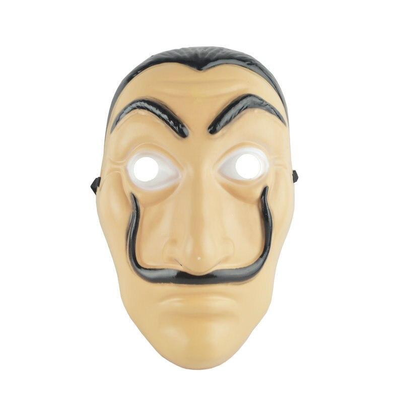 Dali Plastic Mask Paper House La Casa De Papel Cosplay Decoration Masquerade Halloween Funny Tools