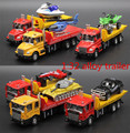 1:32 alloy construction vehicles, trailers high simulation model, metal Diecasts, pull back & flashing & musical, free shipping