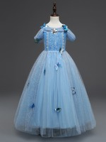 Girl Dresses Cinderella Dress Costume Princess Party Girls Christmas Clothes Fresh Butterfly For Teenagers