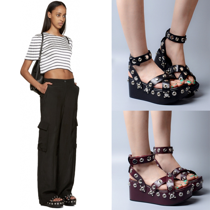 2017 New Genuine Leather Rivets Buckle Strap Women Sandals Sexy Open Toe Punk Style Women Wedges Shoes Women Size 35-40 women in the summer of 2018 the new patent leather nude wedges pointed toe pump work shoes leisure women plus size 35 40 a23