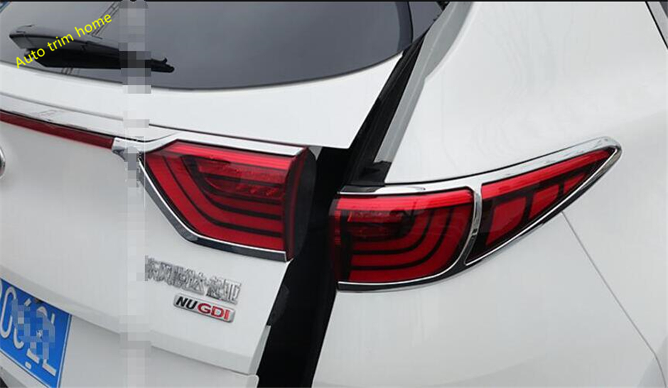 Lapetus For KIA Sportage 2016 2017 2018 ABS Chrome Rear Tailgate Tail Light Lamp Molding Garnish Cover Trim 4 Pcs / Set lapetus for honda civic 2016 2017 2018 abs dashboard central control console air conditioning panel molding garnish cover trim