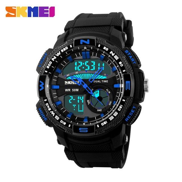 SKMEI Luxury Brand Men Military Sports Watches Digital LED Quartz Watches Fashion Men's Outdoor Wristwatch Relogio Masculino