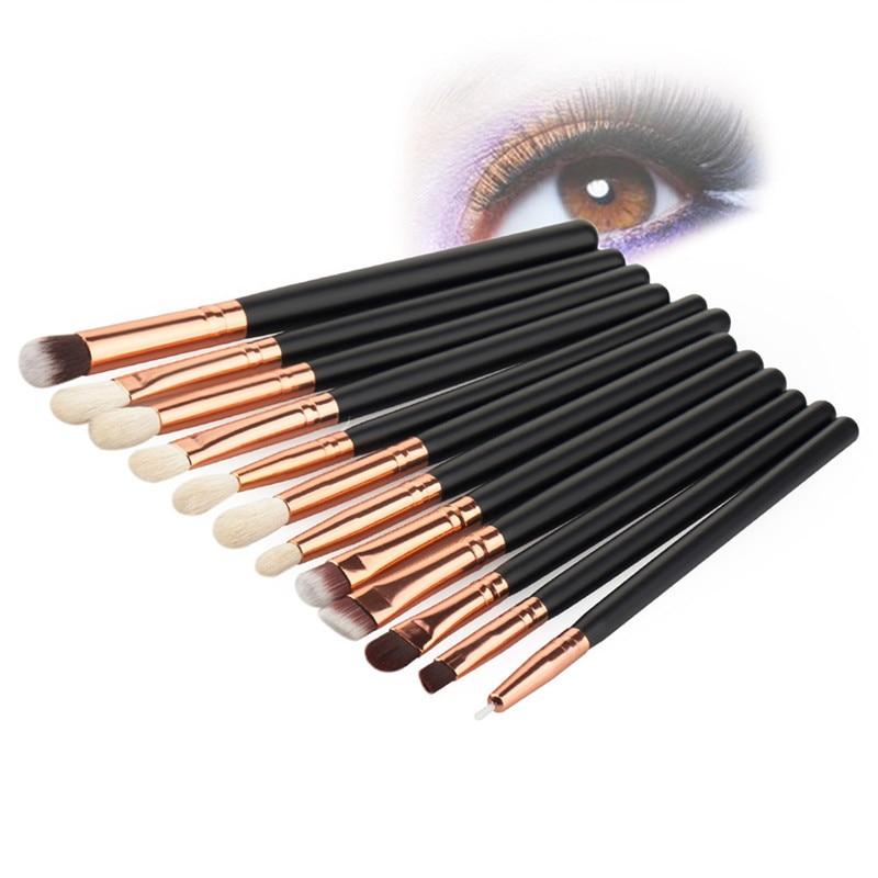 ▽Nuevo ojo Cepillos 12 unids/set ceja delineador de pestañas