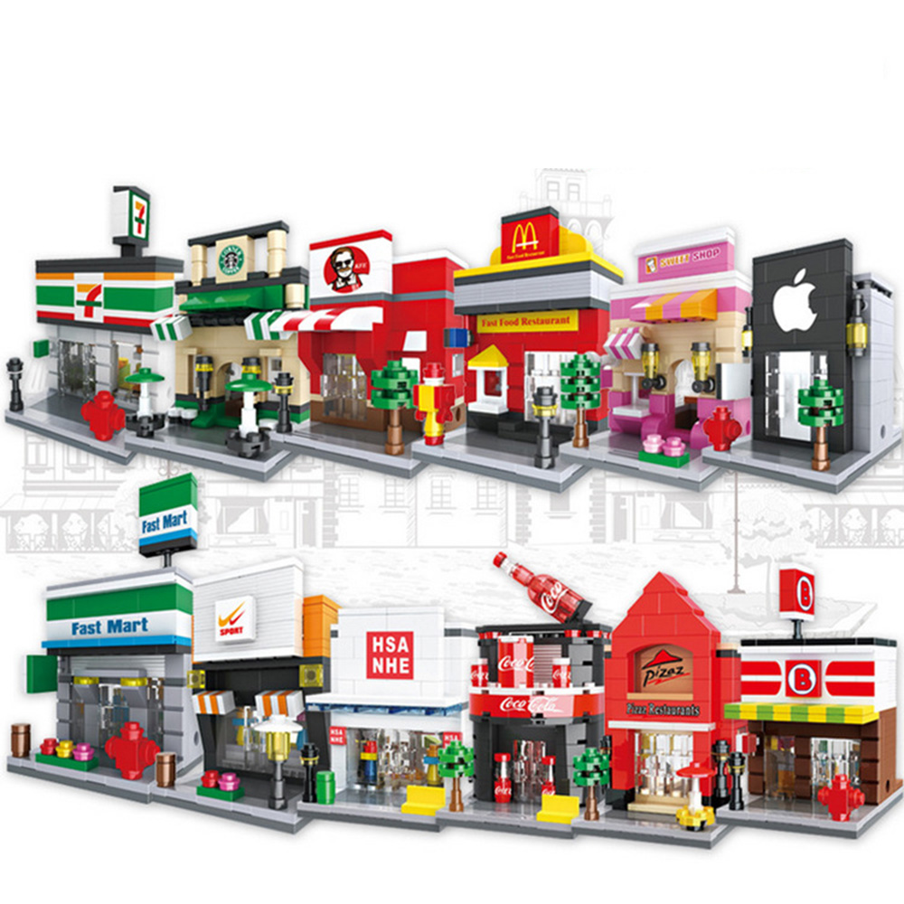 Simulation miniature world stress building blocks city building series blocks toys children s educational toys china