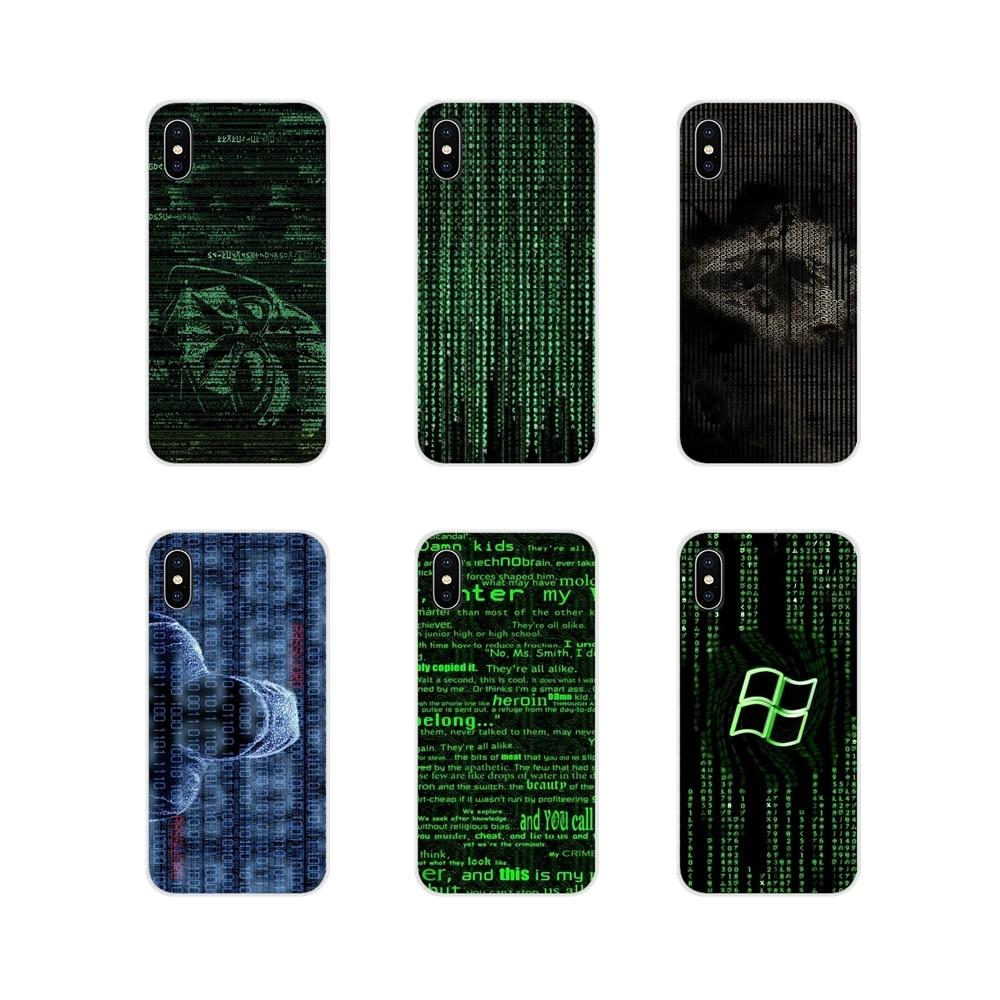 Amable Hacker De Código De Computadora Arte Para Samsung Galaxy A5 A6s A7 A8 A9s Estrella J4 J6 J7 J8 Primer Plus 2018 Accesorios De La Cáscara Del Teléfono Cubre