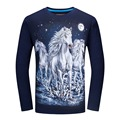 Long Sleeve T Shirt Men Brand 3D Animal Print T Shirts 4XL 5XL 6XL Plus Size T-shirt Tiger Snake Horse Wolf Tee Shirt Homme T419