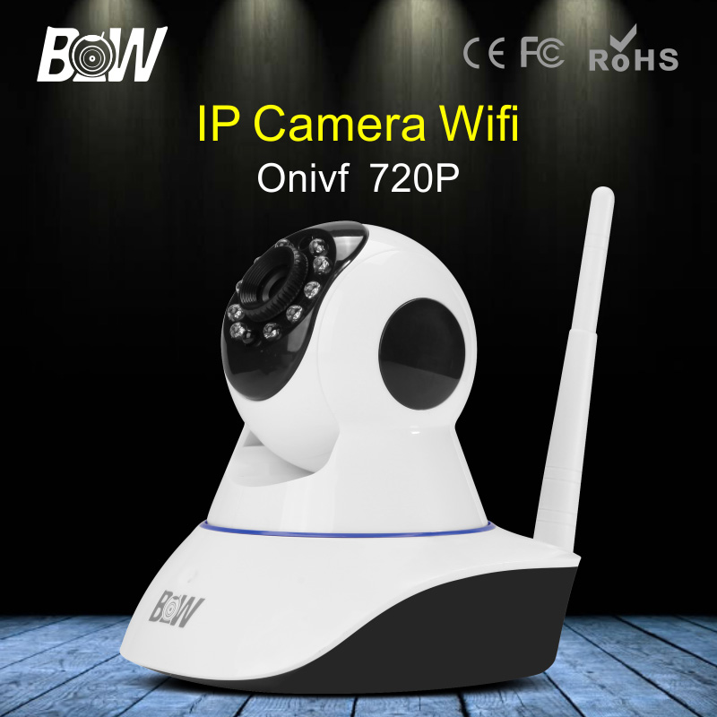 BW 720P HD Wireless IP Camera WiFi 2 Way Audio Onvif Surveillance Security IP Camera Wi-Fi IR-Cut Night Vision Camera