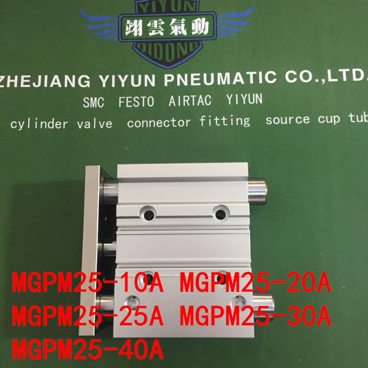 MGPM25-10A MGPM25-20A MGPM25-25A MGPM25-30A MGPM25-40A MGPL Pneumatic components Thin three Rod Guide Pneumatic Cylinder hlq25 75s 100s 125s 150s 10a 20a 30a 40a 50a 10b 20b 30b 40b 50b airtac sliding table cylinder