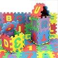 12*12 cm 36 unids/set Alfombra Puzzle Baby Play Mat Alfombra Niños Alfombra De Espuma EVA Rompecabezas de Piso de Mosaico
