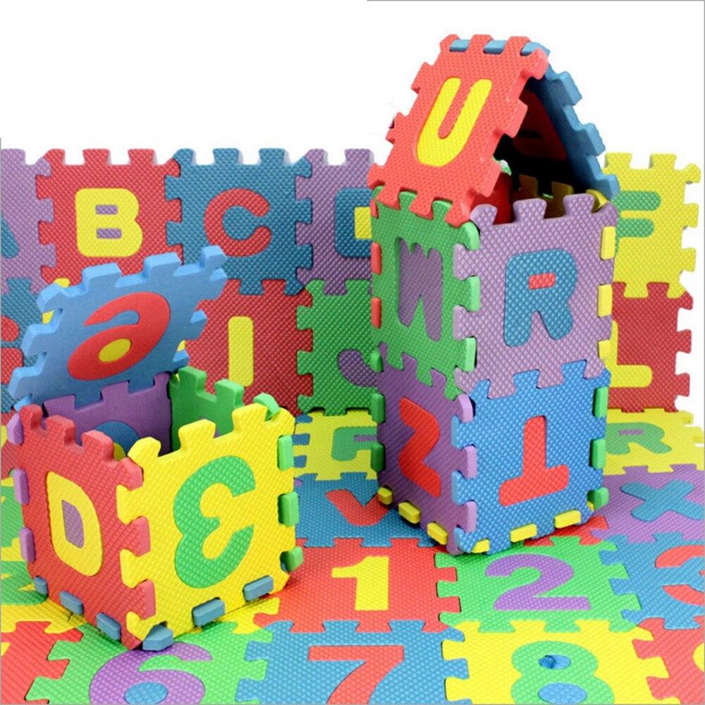12*12cm 36pcs/set Puzzle Carpet Baby Play Mat Mosaic Floor Puzzle Rug EVA