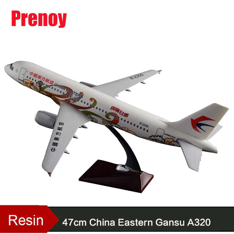 47cm Resin A320 China Eastern Airbus Model Airlines Airplane Model Chinese Eastern Gansu Airbus Aircraft Airways A320 Model Toys spike wings xx4391 jc china eastern airlines b 5902 a330 200 green 1 400 commercial jetliners plane model hobby