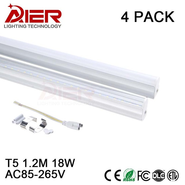 t5 led tube light 1200mm 18w ac85 265v 4pcs free shipping in led rh aliexpress com