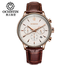 2018 Fashion Mens Watches OCHSTIN Brand Luxury Chronograph Date Clock Man Leather Sport Wrist Watch Men Business Quartz Watch