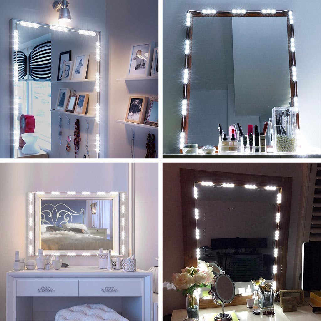Modern Led Dressing Table Mirror Vanity Light Diy Make Up Mirror Lamp Stepless Dimmable Hollywood Mirror Wall Lamp Bulbs Xtn Aliexpress