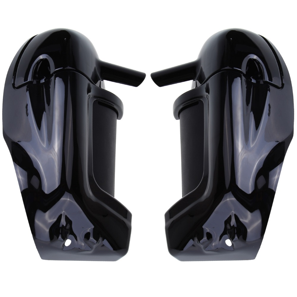 Black Motorcycle Painted Lower Vented Leg Fairing Glove Box Hardware For Harley Road King Electra Glide FLHR FLHT