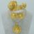Gran Etíope de Oro Conjuntos de Joyas de Oro Plateado Accesorios de Boda Nupcial Conjunto Joyería de Eritrea Etiopía Habesha Nación #006802