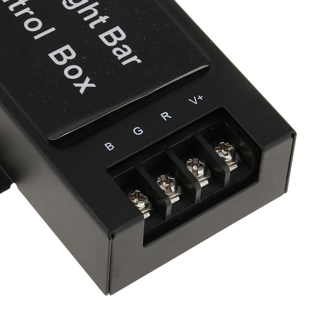 12-24V LED ışık çubuğu pil kontrol kutusu ve kablosuz uzaktan kumanda Toyota Honda Nissan VW Ford BMW araba çalışma/Dome/gündüz lambası 7 modu