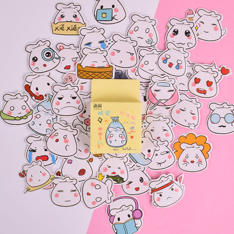 4 Sheets Dog Diary Decoration Sticker Cute Cartoon Stickers Label Kawaii