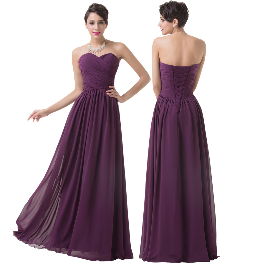 Asombroso Vestidos Largos De Dama De Honor Púrpura Adorno - Vestido ...