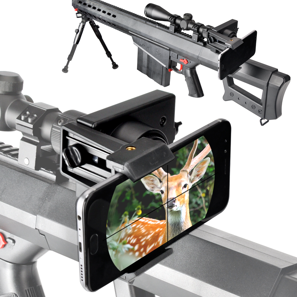 Rifle scope Smartphone Mounting System- Smart Shoot Scope Mount Adapter for Rifle Scopes (Durable Plastic)