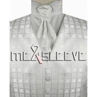 2013 New Arrival Free Shipping Mens Suit Tuxedo Dress Vest Vest Ascot Tie Cufflinks Handkerchief
