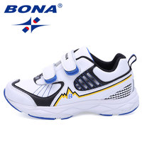 BONA New Fashion Style Boys Sneakers Hook & Loop Children Casual Shoes Outdoor Walking Shoes Kids Comfortable Fast Free Shipping