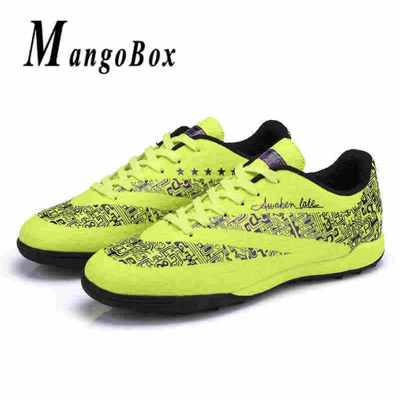 2999b870978 ... Unisex Turf Soccer Shoes Low Ankle Sports Indoor Football Shoes  Designer Youth Shoes for Boys Green ...