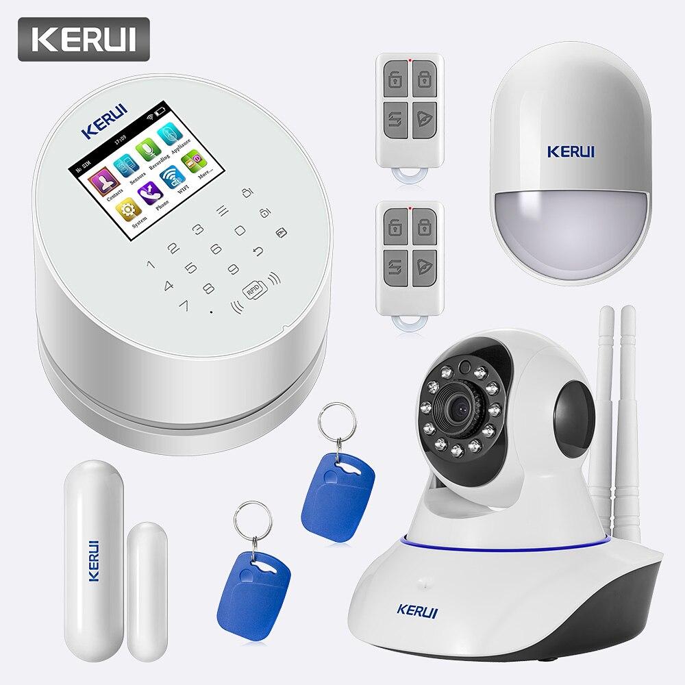 Kerui w2 gsm wifi pstn alarm sistemleri güvenlik ev ip kamera ile - Güvenlik ve Koruma - Fotoğraf 1